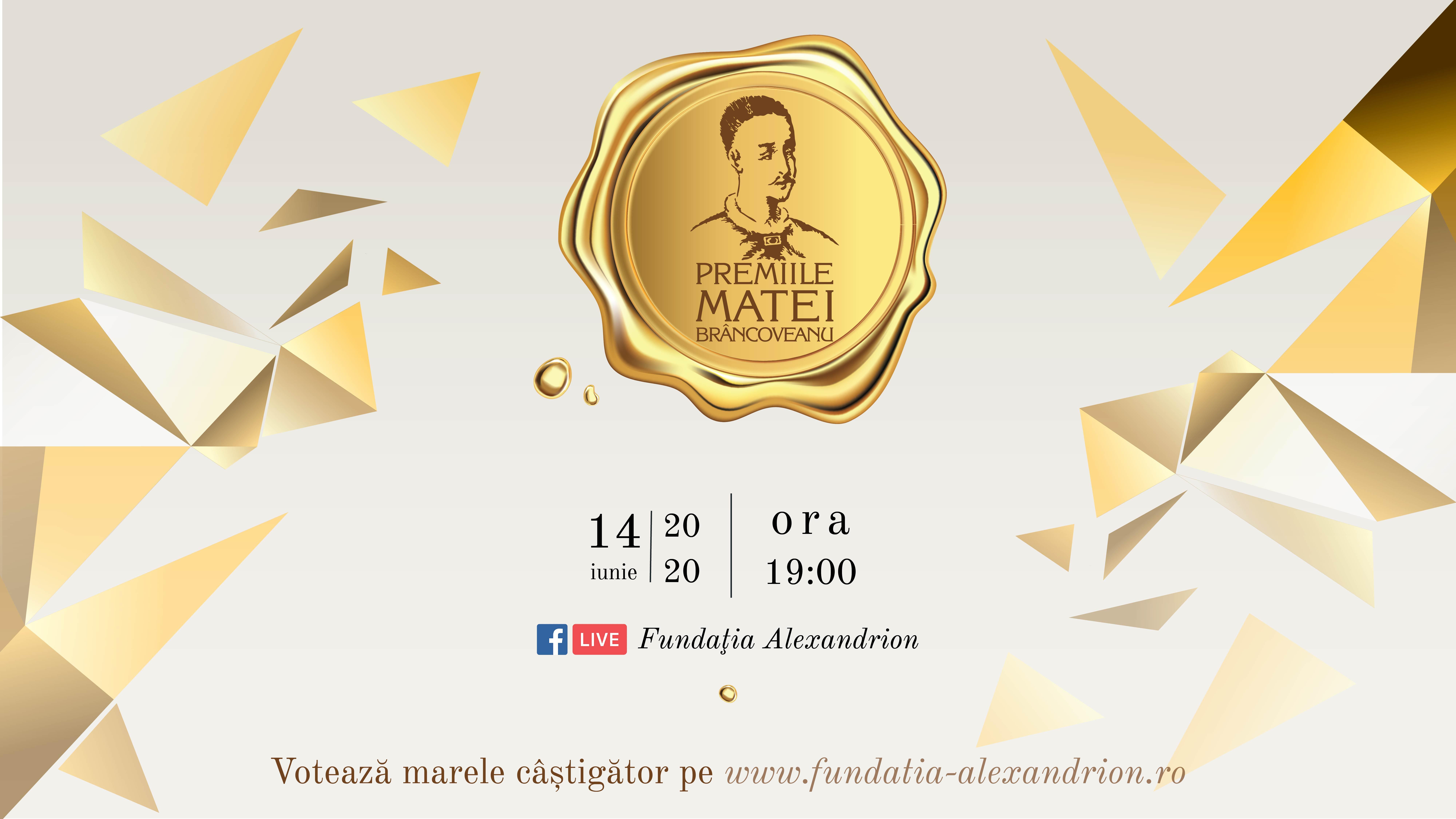 Gala Matei Brâcoveanu 2020: un format inedit, 5 premii pentru tineri remarcabili