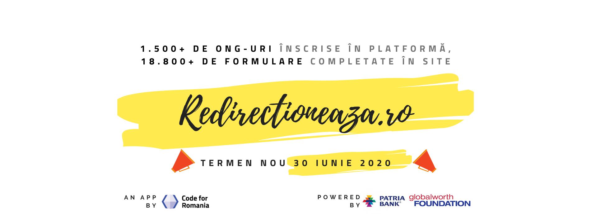 Redirectioneaza.ro, platforma prin care cetățenii pot alege să susțină unul dintre cele peste 1.500 de ONG-uri