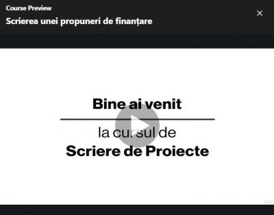 Curs online de scriere de proiecte dezvoltat de FDSC prin Programul3