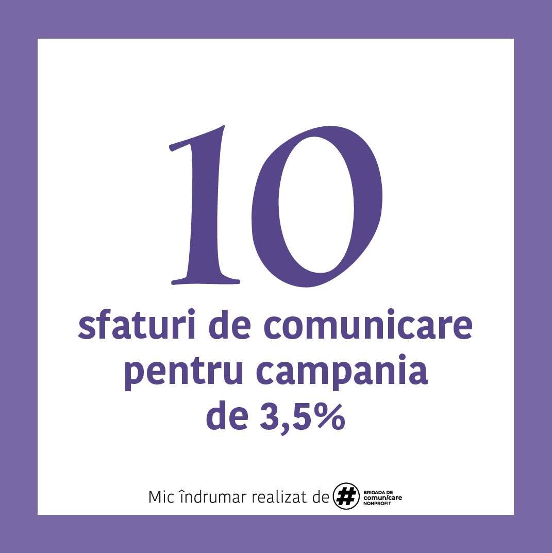 Ghid È™i materiale de comunicare 3,5% pentru ONG oferite probono de Brigada de Comunicare Nonprofit