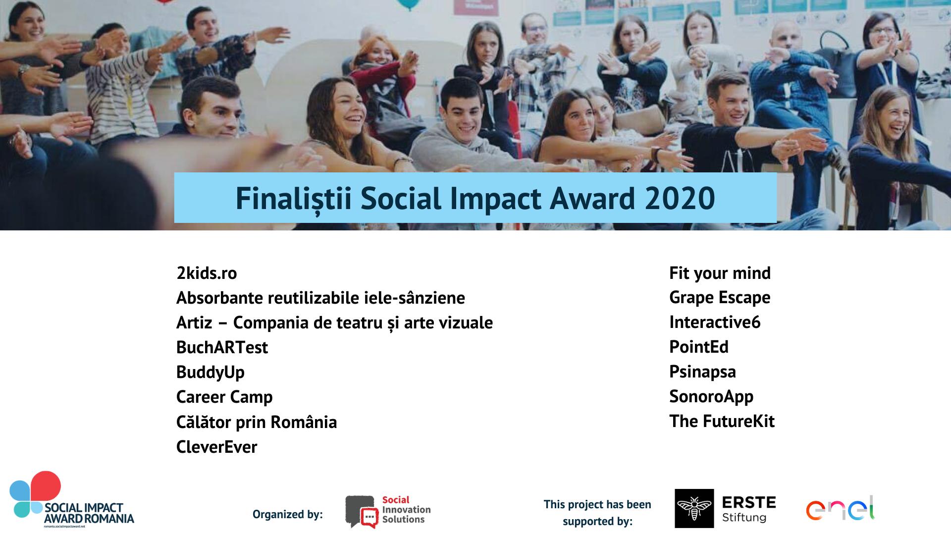 15 echipe finaliste intră în incubatorul Social Impact Award 2020