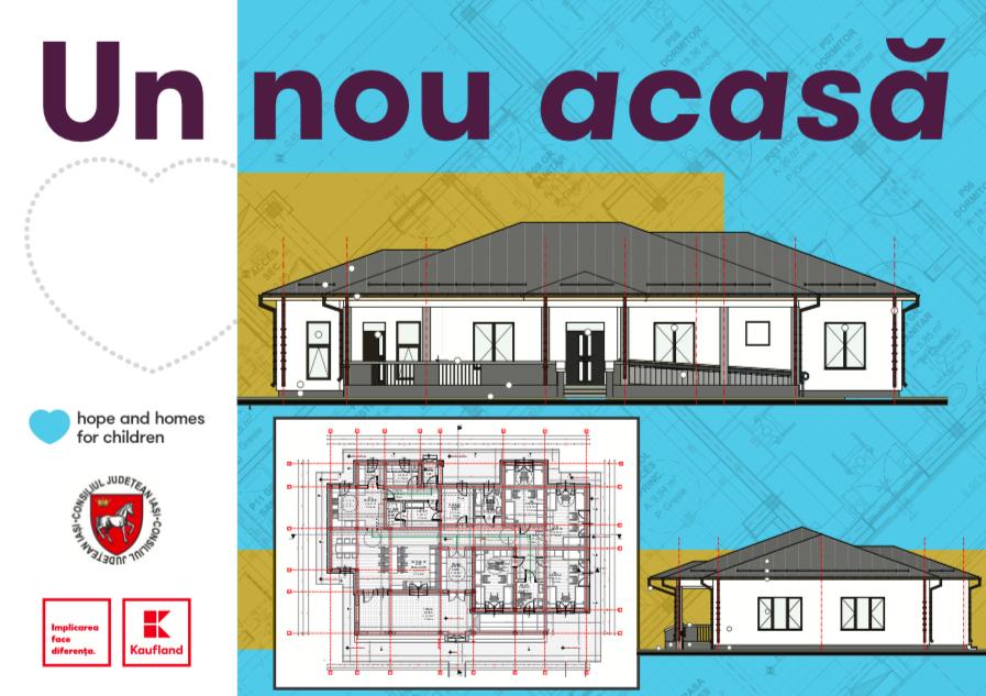 Hope and Homes for Children și Kaufland România au început lucrările de construcție la prima casă de tip familial din municipiul Iași