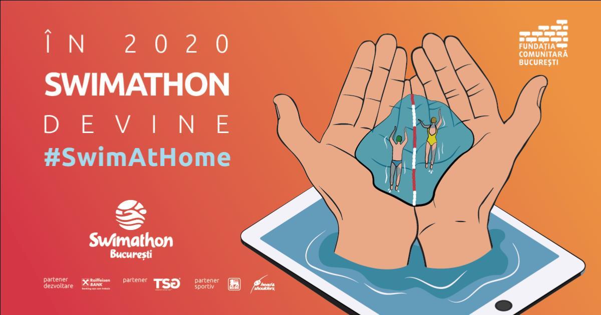 """462 de """"înotători"""" virtuali strâng fonduri la cea de-a opta ediție Swimathon"""