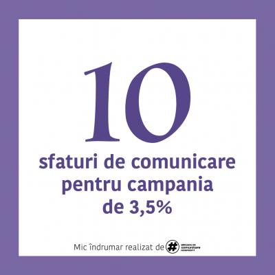 Ghid și materiale de comunicare 3,5% pentru ONG oferite probono de Brigada de Comunicare Nonprofit
