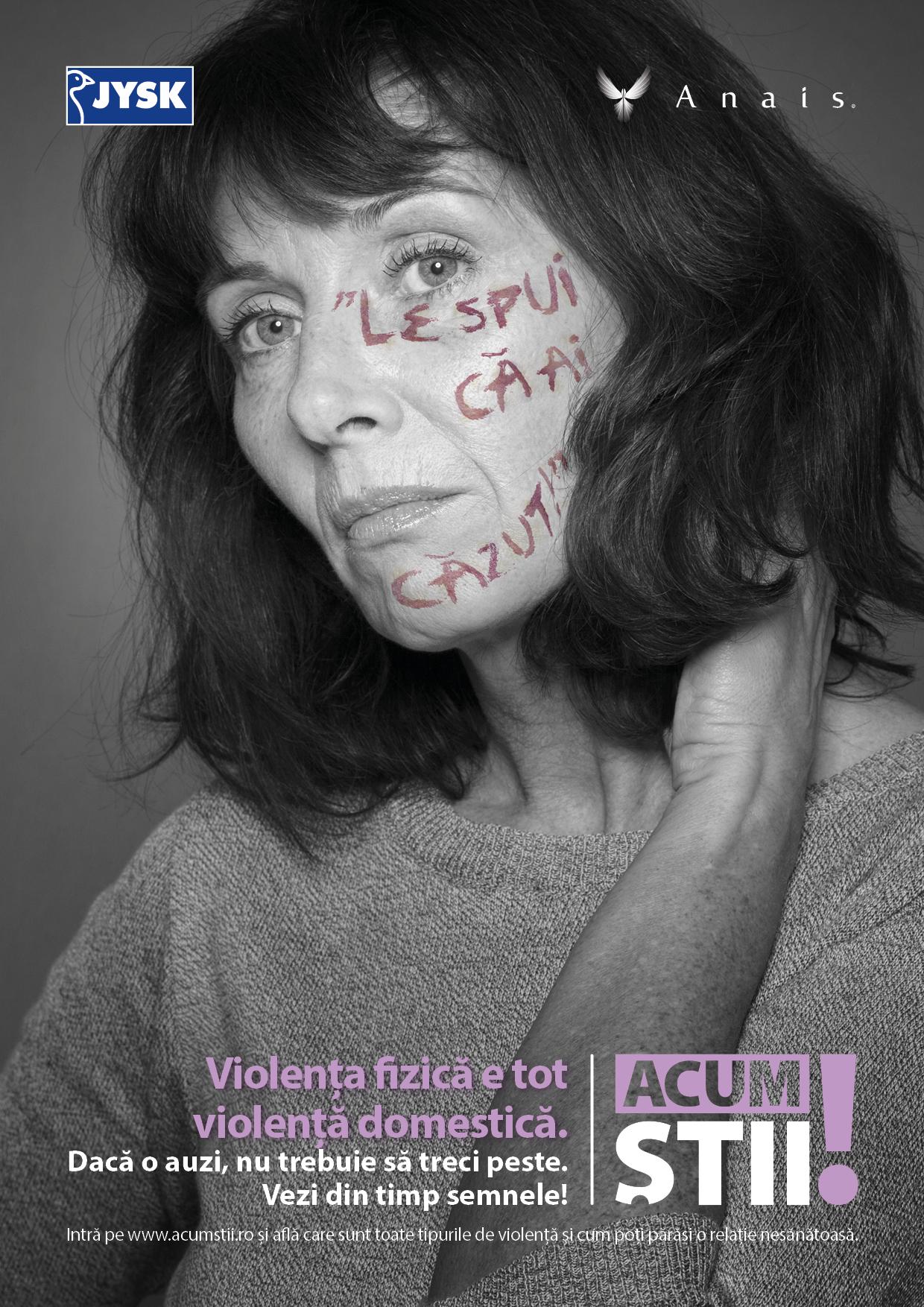 Asociația Anais și JYSK lansează campania de informare cu privire la violența domestică Acum știi