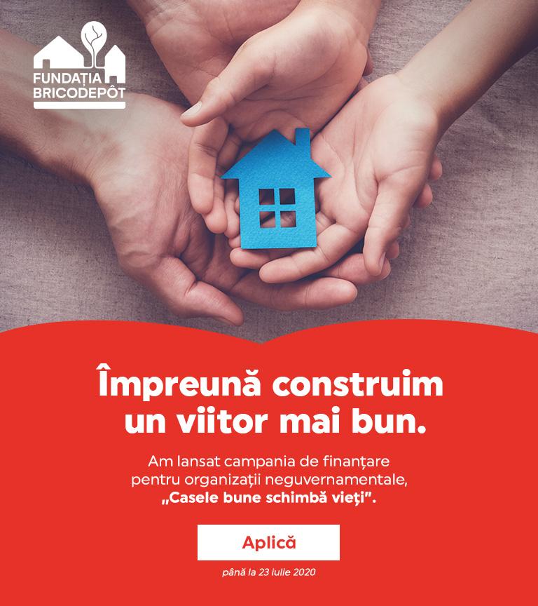 """Fundația BricoDépôt dă startul primei sale campanii de finanţare:  """"Casele bune schimbă vieţi�"""