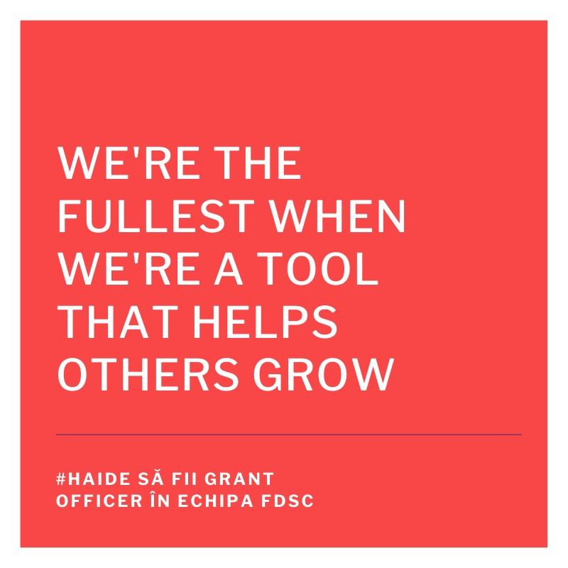 FDSC angajează grant officer