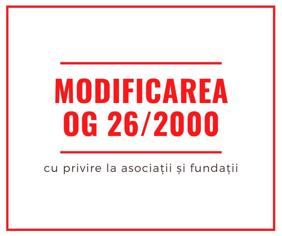 Modificarea OG 26/2000: Peste 300 de ONG-uri transmit un punct de vedere comun