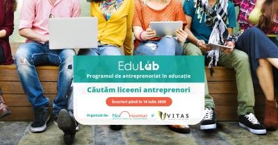 Tinerii din mediul rural pot aplica acum la Edulab – programul online de antreprenoriat în educație