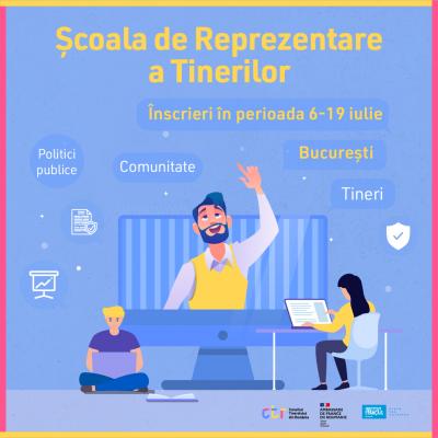 Consiliul Tineretului din România te cheamă la Școala de Reprezentare a Tinerilor
