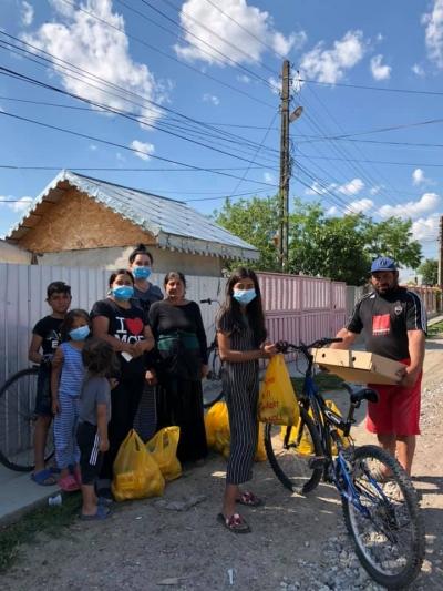 Sprijin pentru 150 de familii defavorizate din localitatea Barcea – Galați în contextul pandemiei