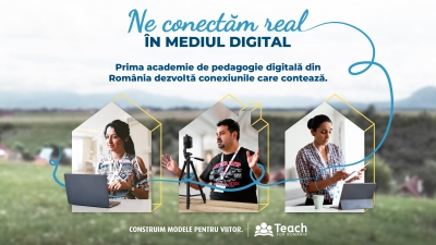 Teach for Romania lansează prima academie de pedagogie digitală din România dedicată profesorilor din sistemul de învățământ public