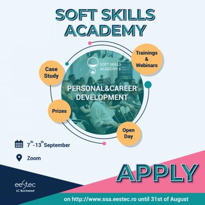 Start la înscrieri pentru evenimentul Soft Skills Academy!