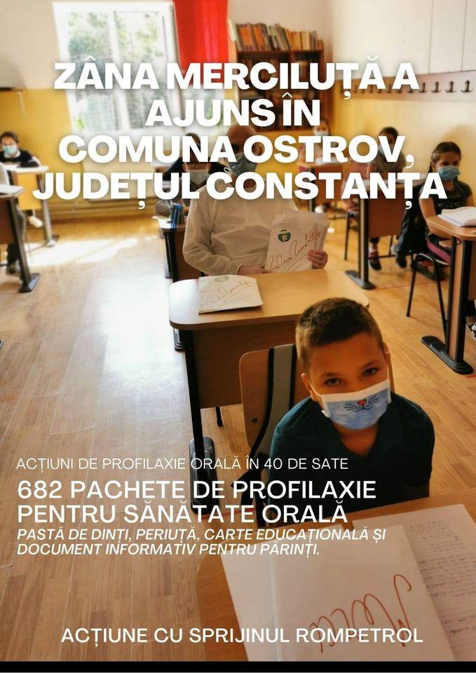 682 de pachete de profilaxie pentru sănătate orală au fost distribuite copiilor care învață la grădinițele și școlile din comuna Ostrov