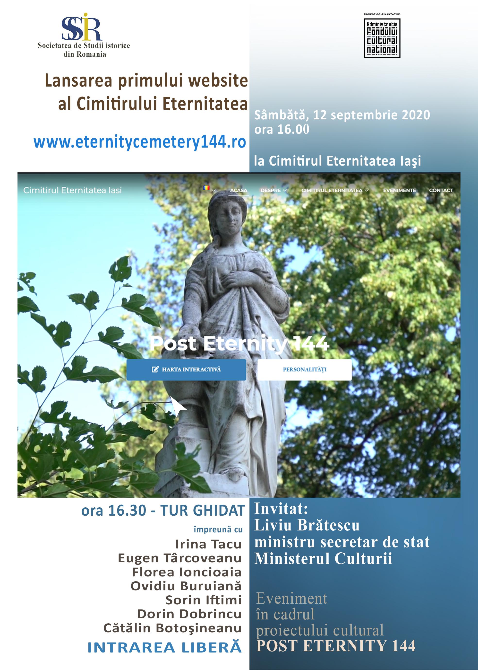 www.eternitycemetery144.ro - primul website al Cimitirului Eternitatea