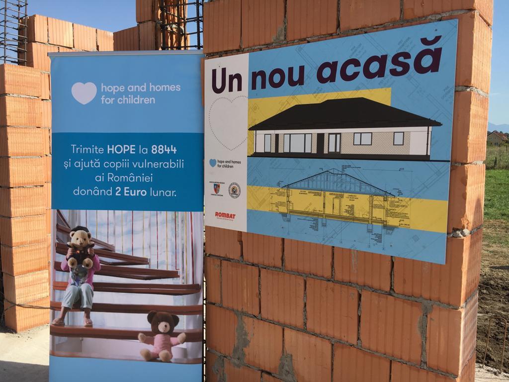 Hope and Homes for Children începe construcția celei de-a șasea case de tip familial din Bistrița-Năsăud