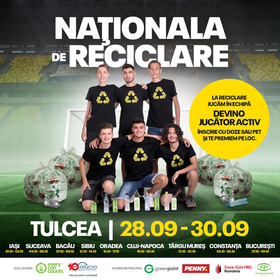 Locuitori din 10 oraşe din România vor face echipă în Naţionala de Reciclare  şi vor recicla doze şi PET-uri
