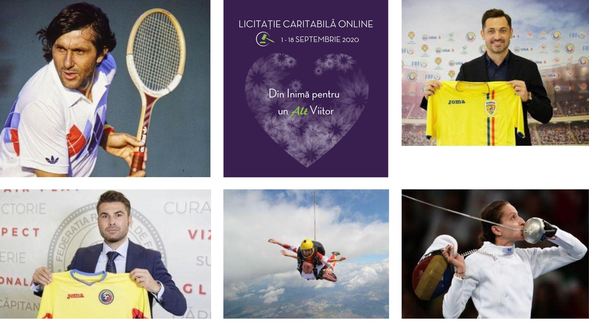 Licitație caritabilă: racheta lui Ilie Năstase, tricouri semnate de Adrian Mutu, Mirel Rădoi și multe altele