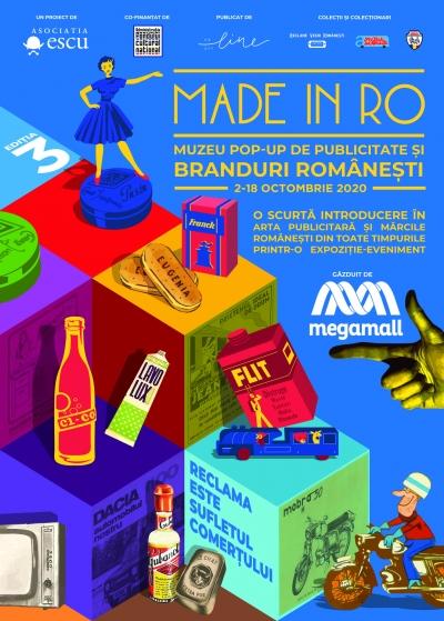 Made in RO: muzeu pop-up de publicitate și branduri românești revine cu a treia ediție, luând startul cu o expoziție de neratat