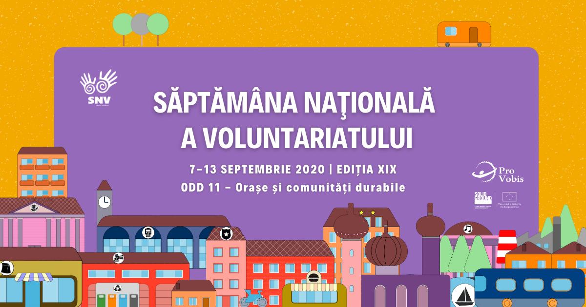 O săptămână de sărbătoare pentru voluntari, la a 19-a ediție a SNV