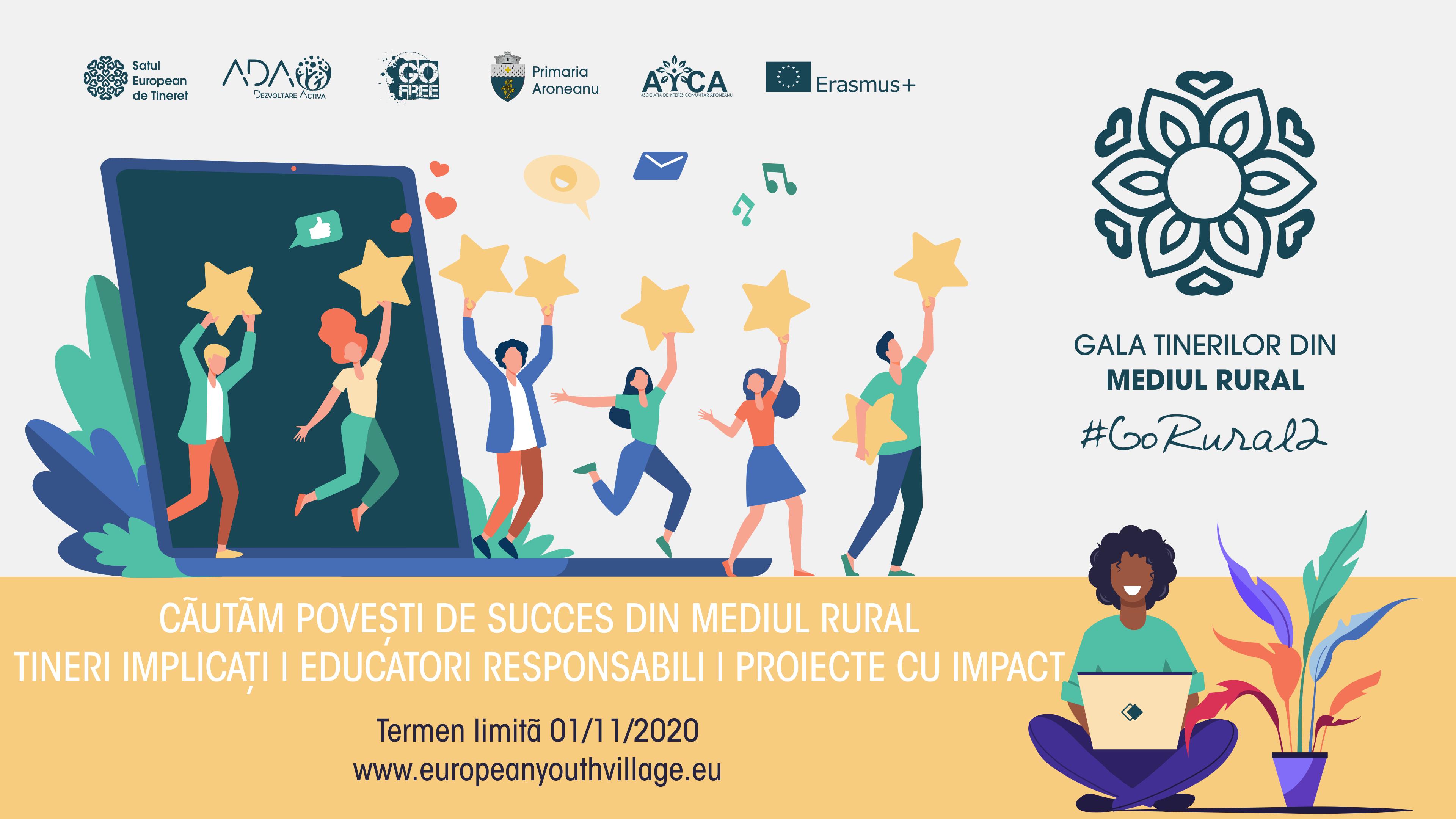 Nominalizează tineri, educatori și proiecte care schimbă comunități la Gala Tinerilor din Mediul Rural