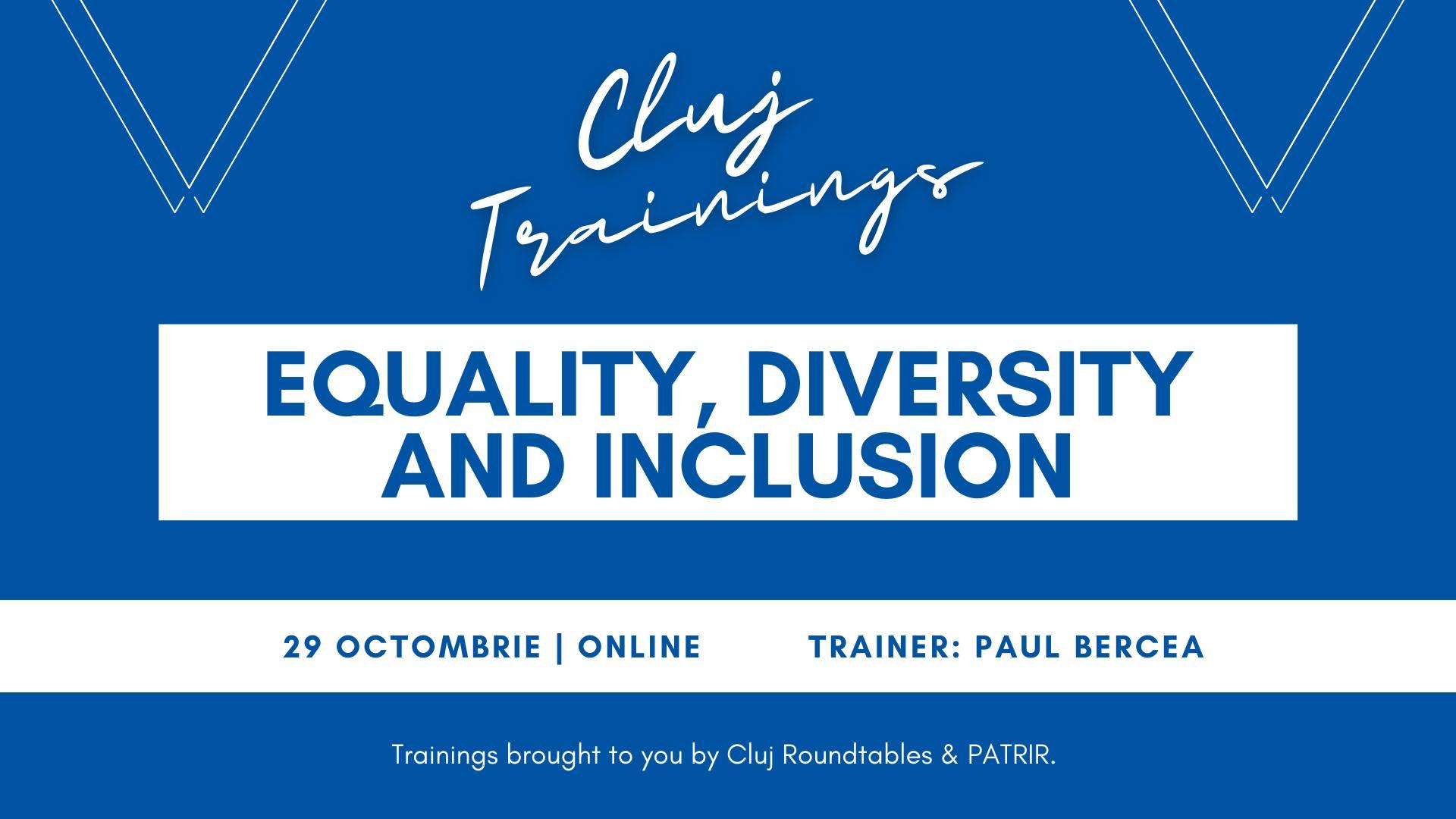 PATRIR vă invită la Cluj Trainings: Egalitate, diversitate și incluziune