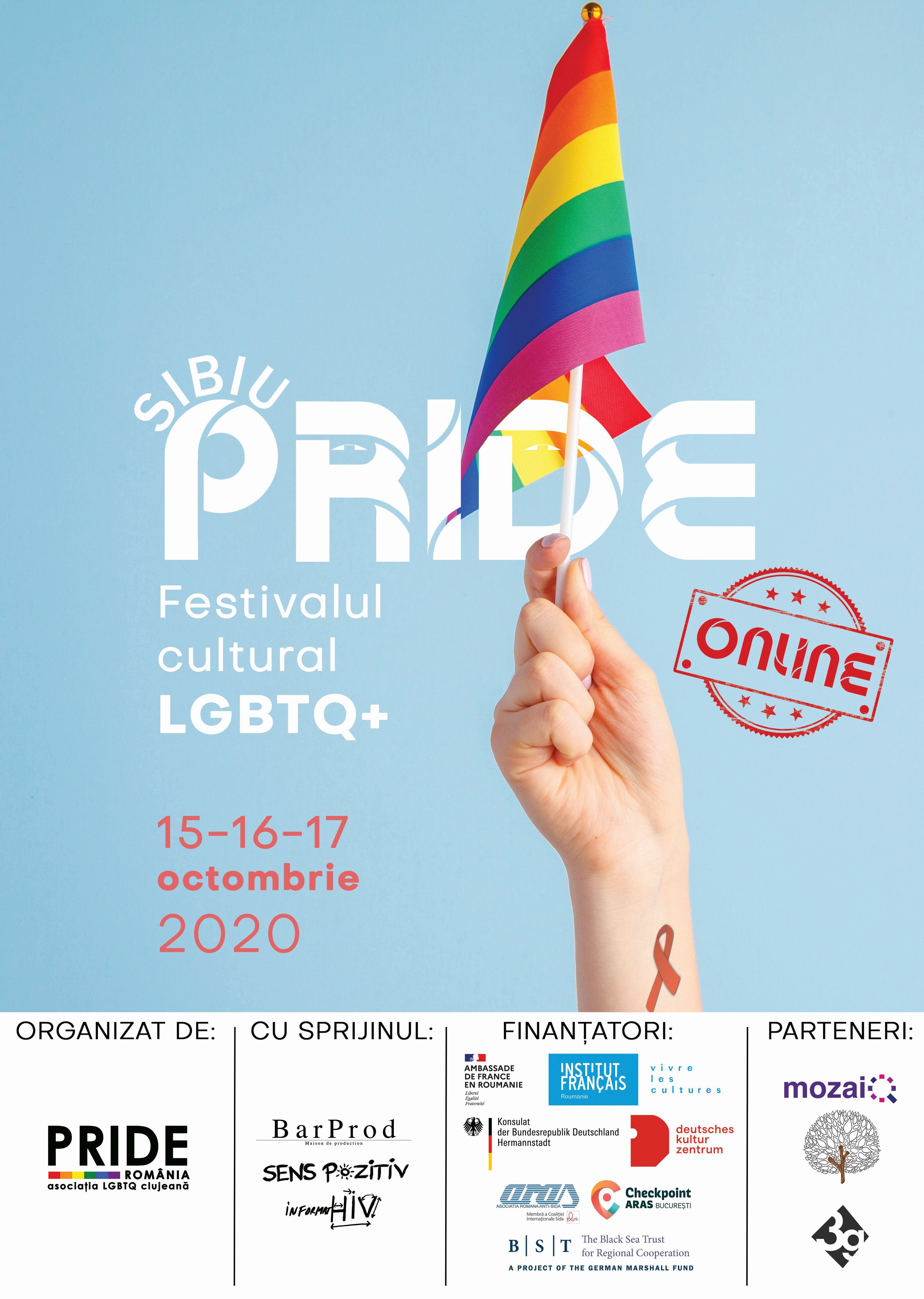 Prima ediție a Festivalului cultural LGBTQ+ SIBIU PRIDE, sprijinită de Institutul Francez și de Ambasada Franței în România