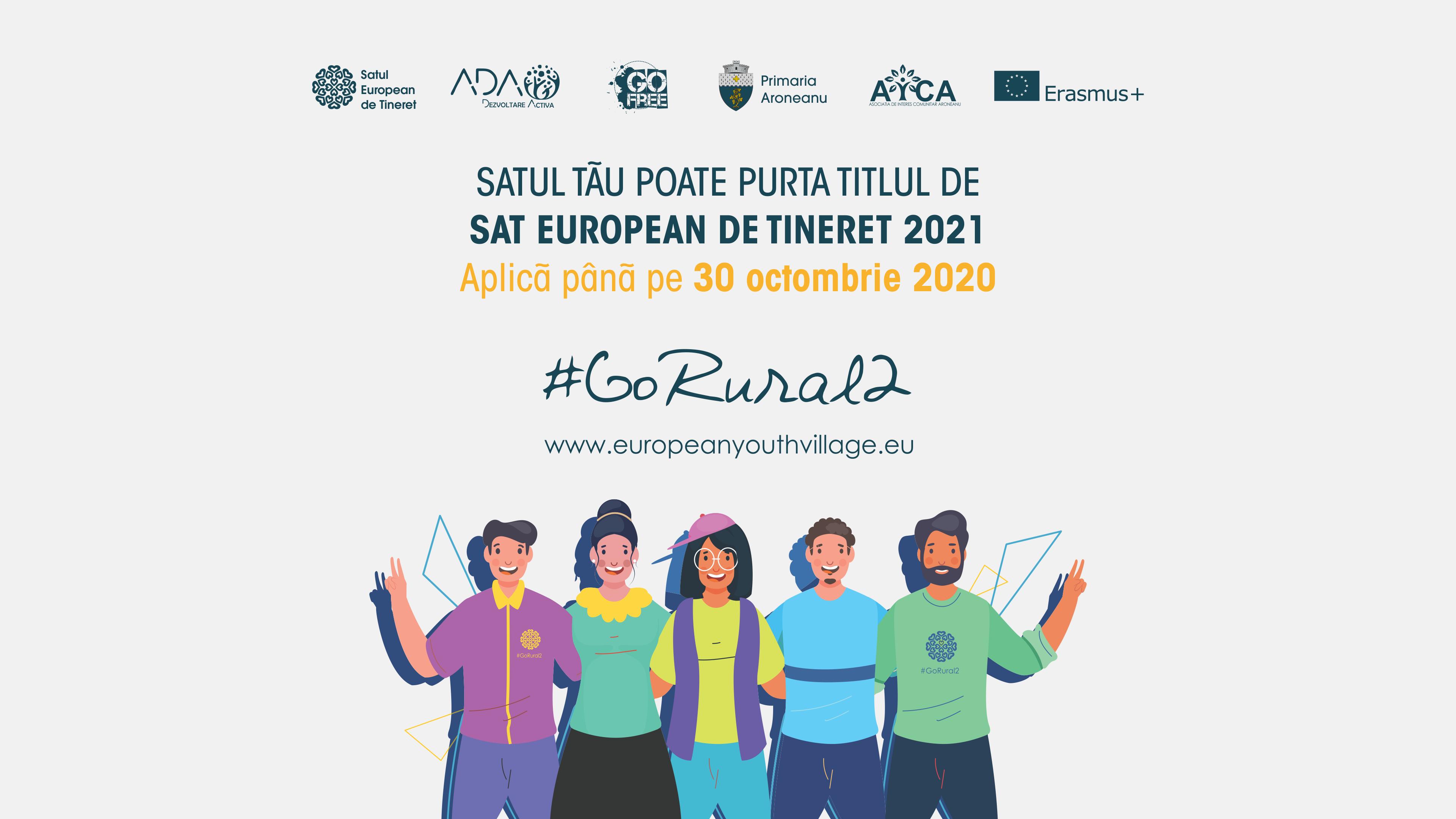 """Satele și comunele din România pot candida pentru titlul de """"Sat European de Tineret 2021�"""