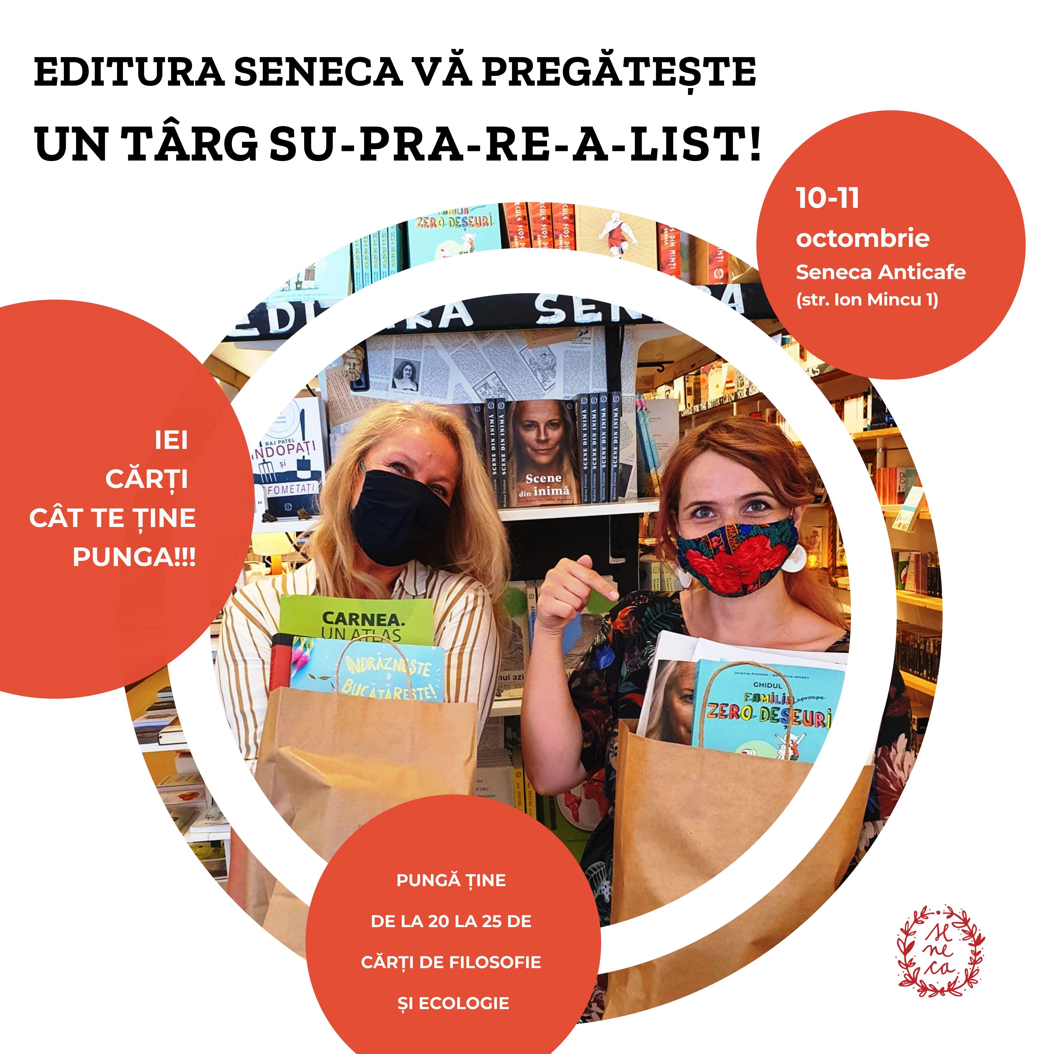 Târg suprarealist cu cărți gratis la Seneca Anticafe