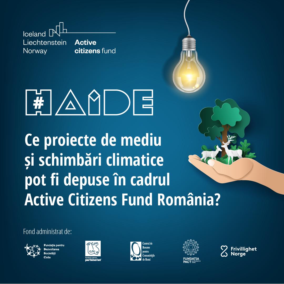 Ce proiecte de mediu și schimbări climatice pot fi depuse în cadrul Active Citizens Fund România – interviu cu Fundația pentru Parteneriat