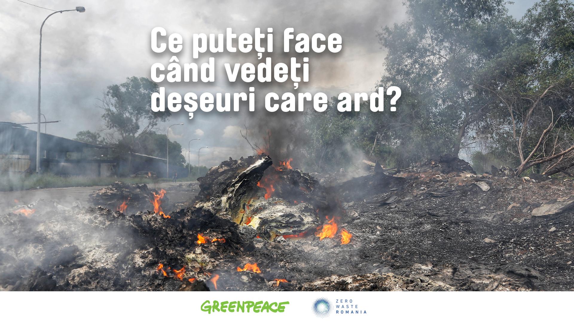 Ghid Greenpeace pentru stoparea arderii deșeurilor