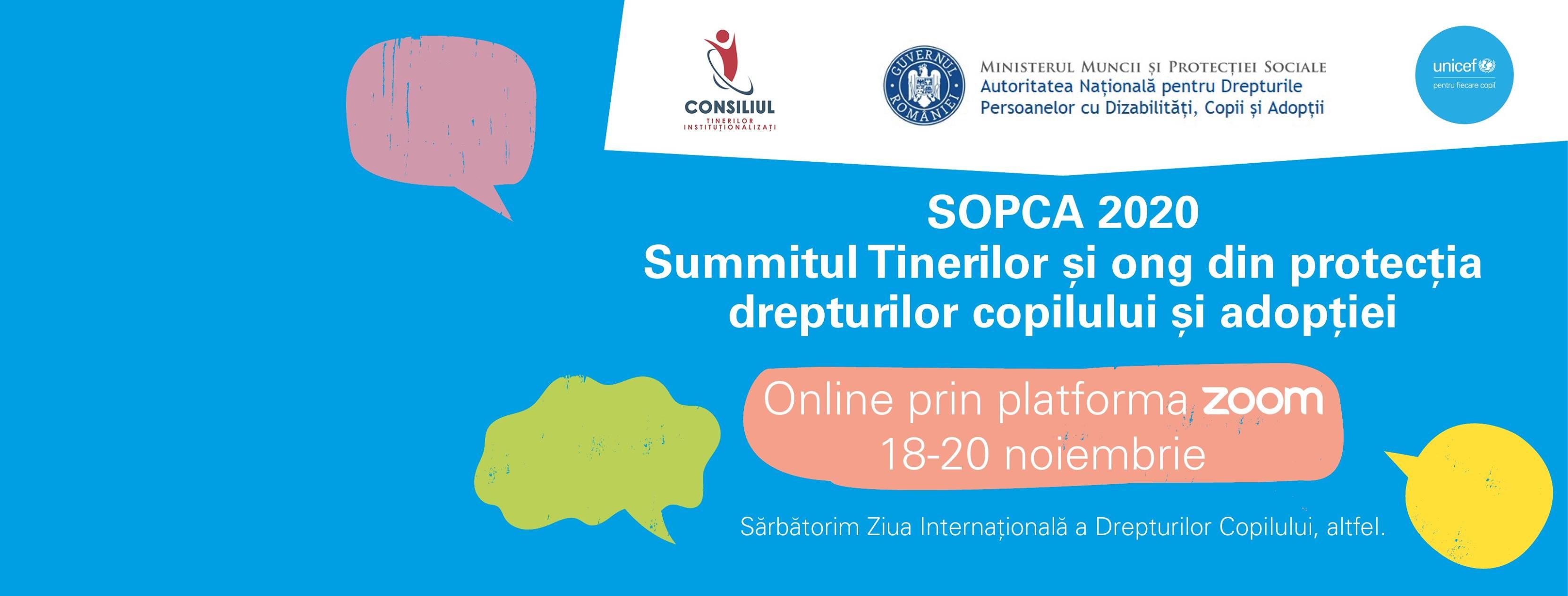 Summitul tinerilor și organizațiilor din protecția drepturilor copilului și adopție – SOPCA 2020