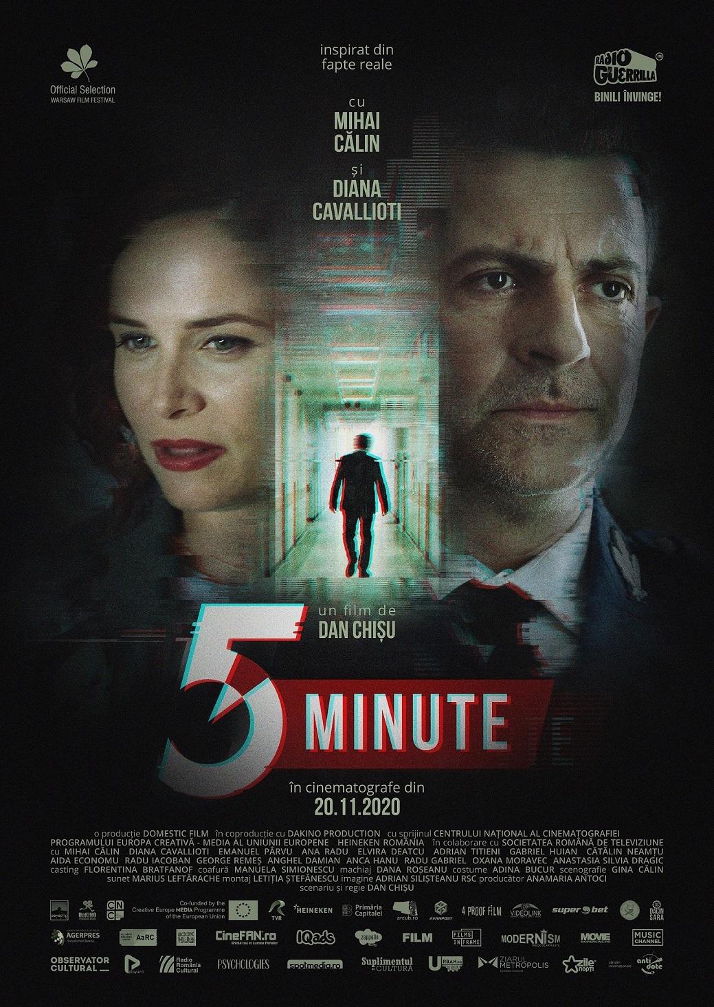 """Filmul """"5 Minute"""", în regia lui Dan Chișu intră în exploatare cinematografică pe 20 noiembrie"""
