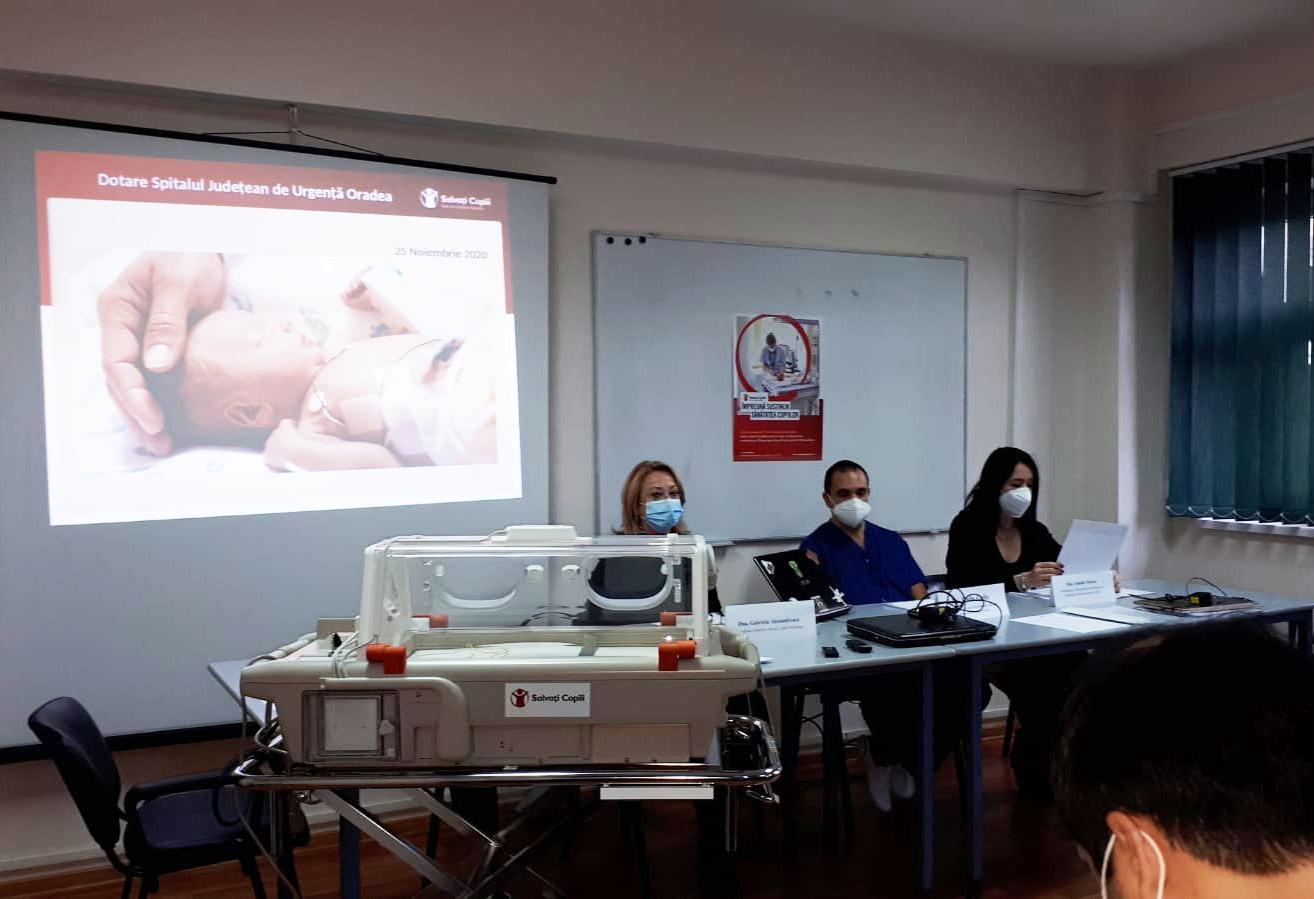 Spitalul Județean de Urgență Oradea primește aparatură medicală vitală pentru secția de neonatologie
