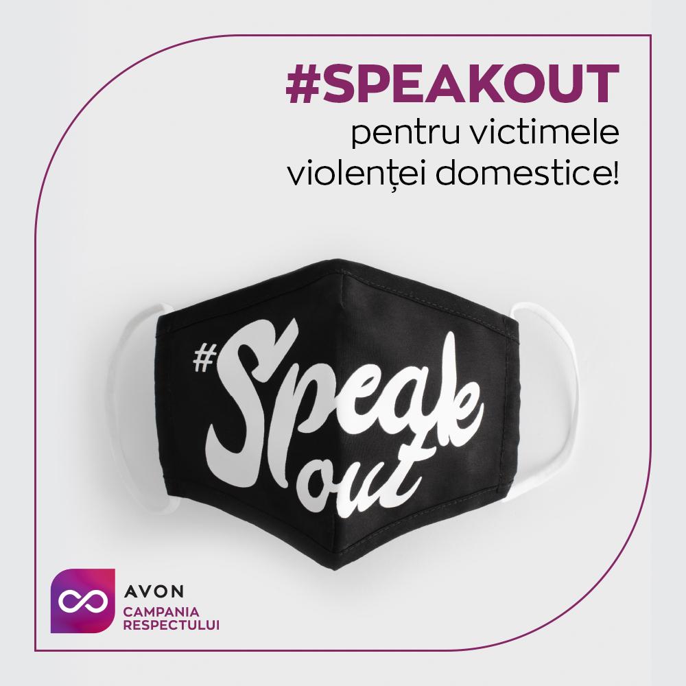 De Ziua Internațională pentru Eliminarea Violenței Asupra Femeii, este lansat un produs social: masca de protecție #speakout