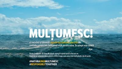 """Se lansează campania """"Natura unui MULȚUMESC"""", prima inițiativă care încurajează colectarea selectivă în centrele comerciale"""