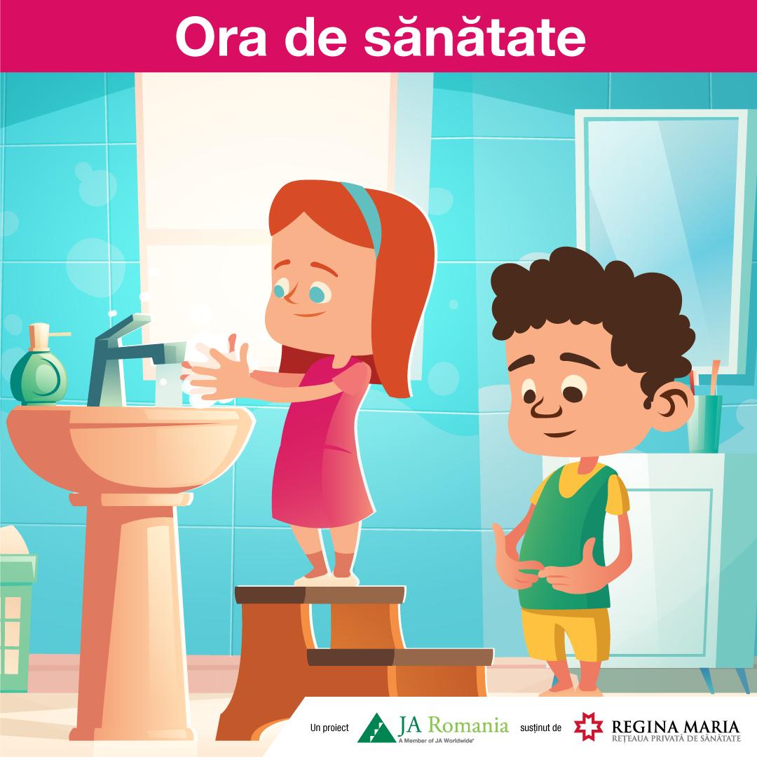 Ora de sănătate – lansarea proiectului Junior Achievement România