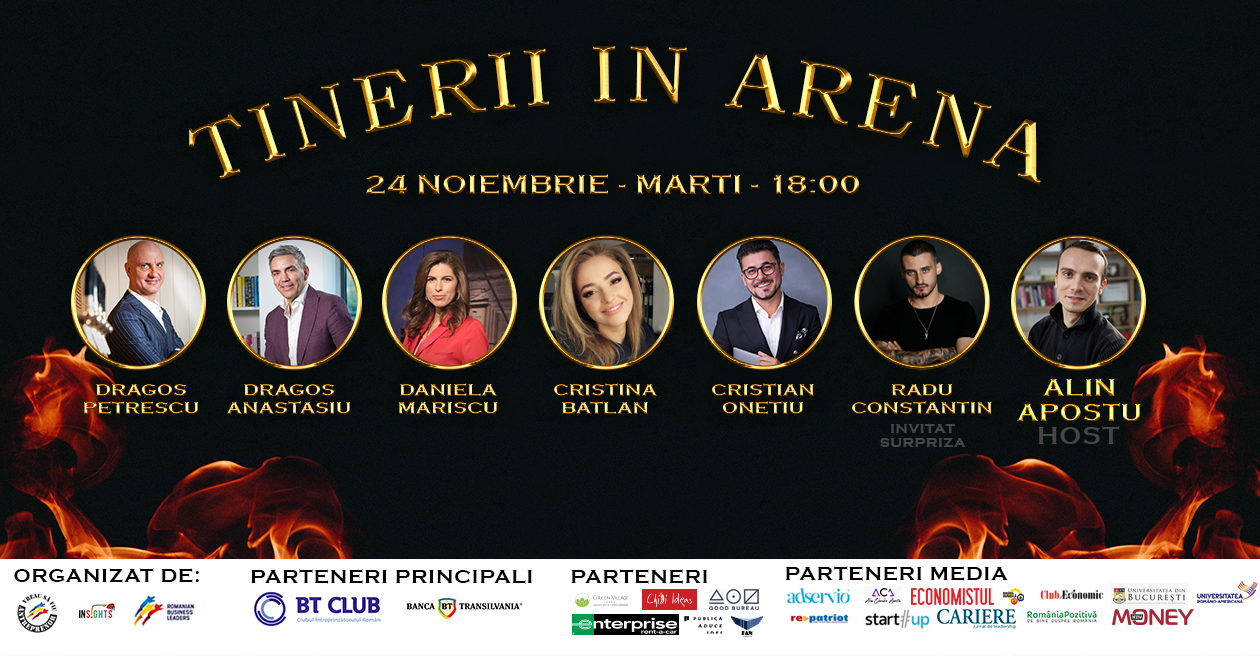 Greii business-ului românesc intră, marți, în Arena Tinerilor