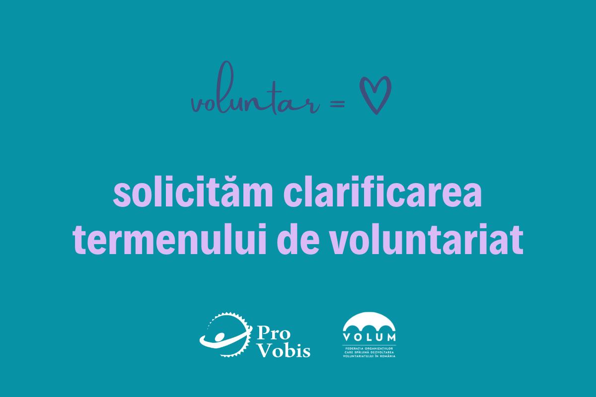 Peste 90 de organizații solicită autorităților clarificarea publică a termenului de voluntariat