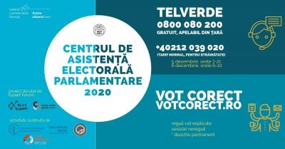 Call center 0800 080 200 și platforma www.votcorect.ro pentru sesizarea neregulilor la parlamentare