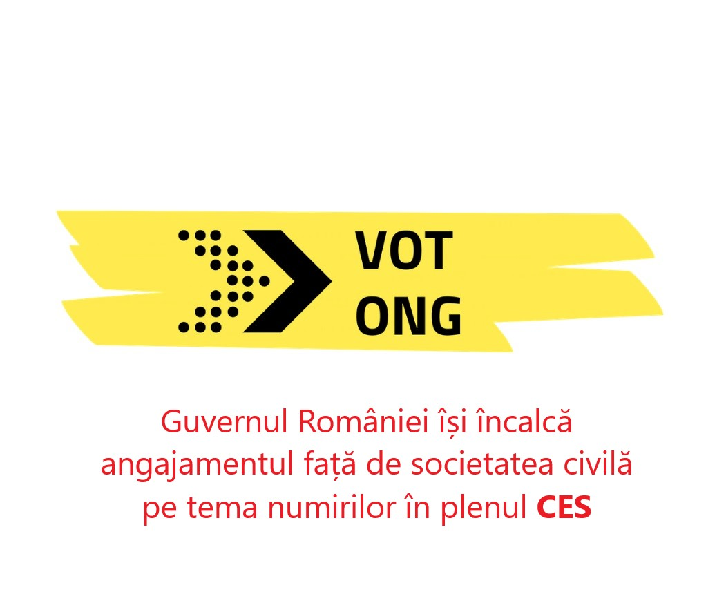 Guvernul României își încalcă angajamentul față de societatea civilă pe tema numirilor în plenul CES