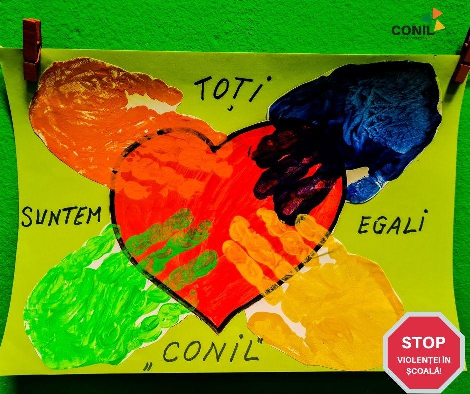 """CONIL organizează Expoziția virtuală """"O călătorie în lumea prieteniei"""" dedicată Zilei Internaționale a Nonviolenței în Școli"""