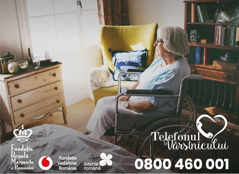Număr record de convorbiri telefonice și de apelanți la Telefonul Vârstnicului în 2020