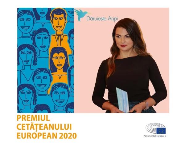 Asociația Dăruiește Aripi câștigă Premiul Cetățeanului European 2020  acordat de către Parlamentul European