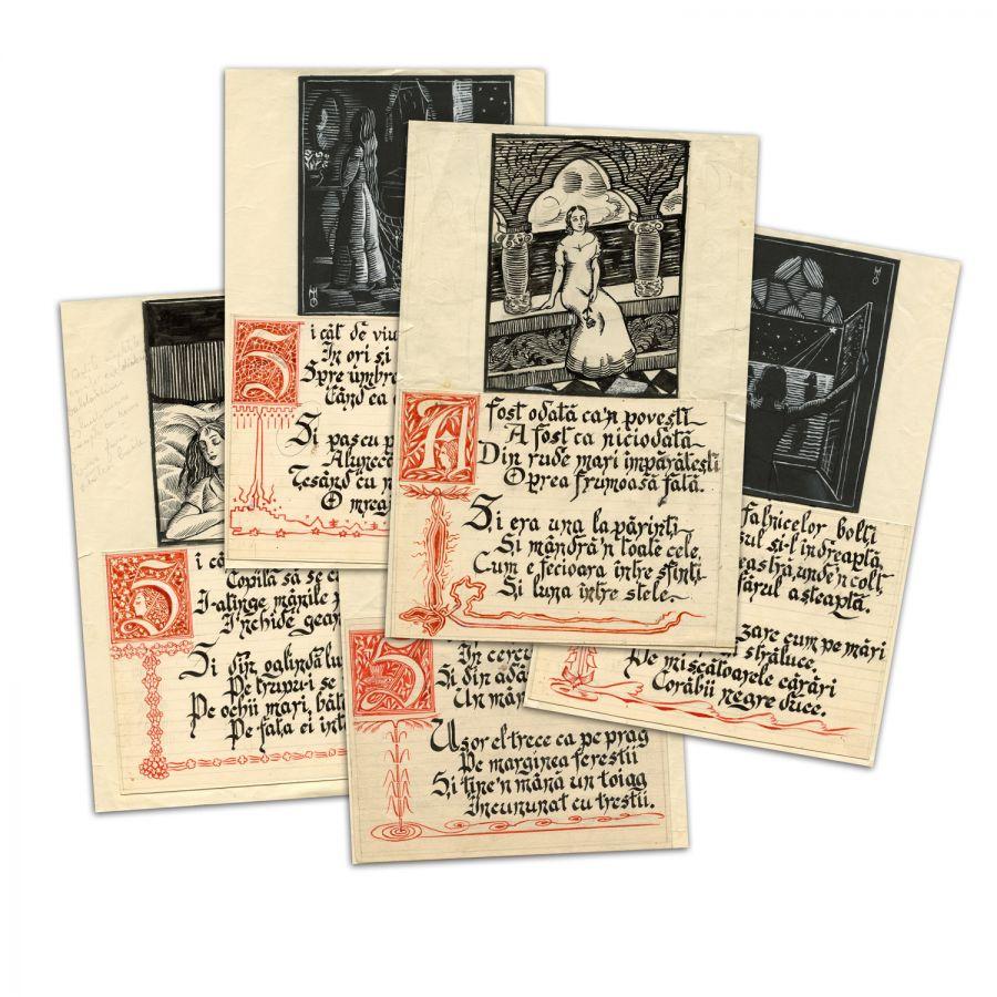 Miorița, Meșterul Manole și Zburătorul în arte vizuale, ilustrație de carte și muzică rock