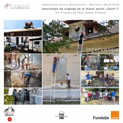 Proiectul Ambulanța pentru Monumente – Moștenim Dăruind prezentat într-o broșură online