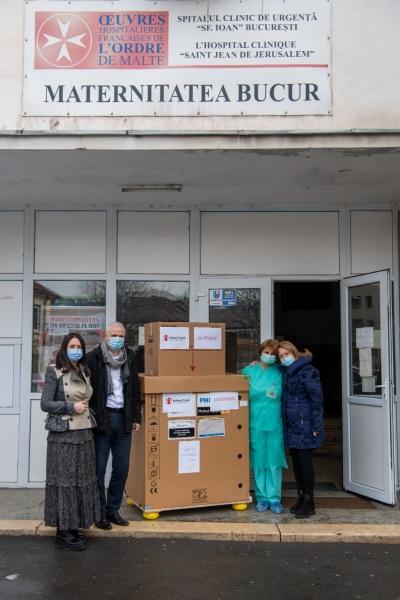 Singura maternitate suport COVID-19 din București primește un ecograf necesar pentru evaluarea pulmonară a nou-născuților