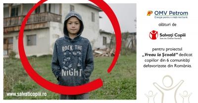 """Susținere cu 300.000 de euro a programului """"Vreau la școală"""", inițiat de Organizația Salvați Copiii"""