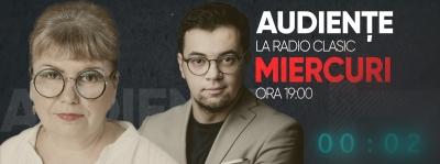 """RADIO CLASIC transmite, începând cu 24 februarie 2021, în fiecare miercuri, de la ora 19:00, """"Audiențe"""", un interviu-dezbatere moderat de Iosif Prodan, având-o pe Manuela Mureșan invitat permanent"""