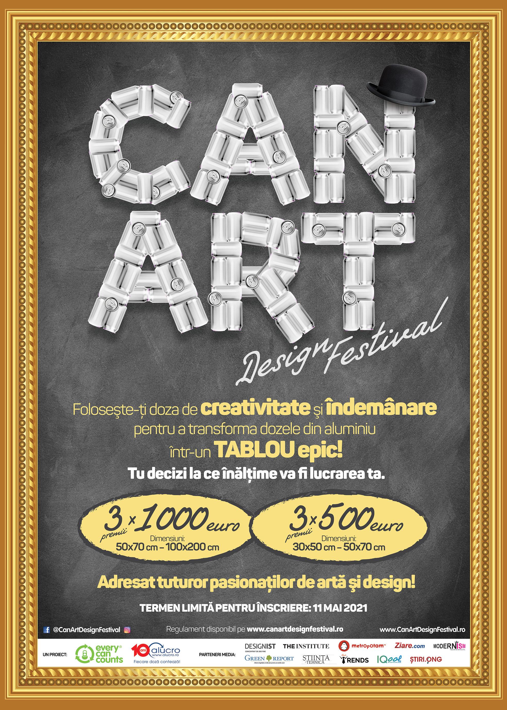 Concursul Can Art&Design Festival caută creativi care pot face artă din doze de băutură